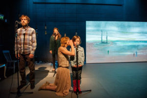 WAY BACK HOME Project Arts Centre Directed by Louise White Visual Artist - Clare Henderson Lighting Design - Stephen Dodd Composition and Sound Design - Alma Kelliher Costume Design - Ana Novacic